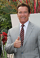 "CANNES, FRANCE - APRIL 04:  Arnold Schwarzenegger attends the ""Handprint Ceremony"" during MIPTV on April 4, 2011 in Cannes, France.  (Photo by Tony Barson/WireImage)"