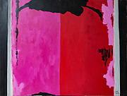 """Laki Senanayake. <br /> """"Pink and Red""""<br /> 38"""" x 48""""<br /> Acrylic on Canvas. July 2019 <br /> <br /> GRN 263259 11/07/19"""