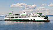 The Spokane is one of the Washington State Ferries which cruise Puget Sound (part of the Salish Sea).