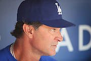 LOS ANGELES, CA - MAY 12:  Don Mattingly #8 manager of the Los Angeles Dodgers talks to the media before the game against the Miami Marlins on Sunday, May 12, 2013 at Dodger Stadium in Los Angeles, California. The Dodgers won the game 5-3. (Photo by Paul Spinelli/MLB Photos via Getty Images) *** Local Caption *** Don Mattingly