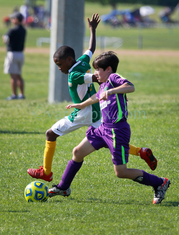 01 May 2016. Memphis, Tennessee. <br /> The Adidas Premier Invitational hosted by the Mike Rose Soccer Complex. <br /> Finals. New Orleans Jesters Youth Academy U10 Purple v  Southwest Jackson SL Blaze.<br /> Jesters win 2-1.<br /> Photo&copy;; Charlie Varley/varleypix.com
