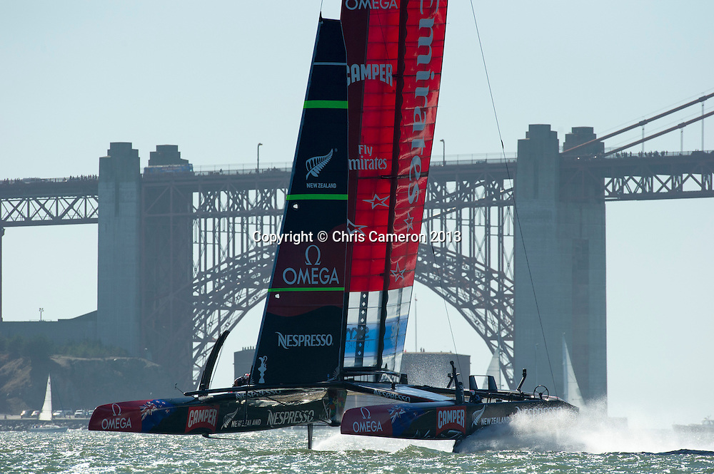 Emirates Team New Zealand, race 15 on day 12 of America's Cup 34. 22/9/2013