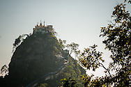 Myanmar, Mount Popa. Mount Popa is considered to be one of the most sacred places in the whole country, inhabited by nats - spirits.