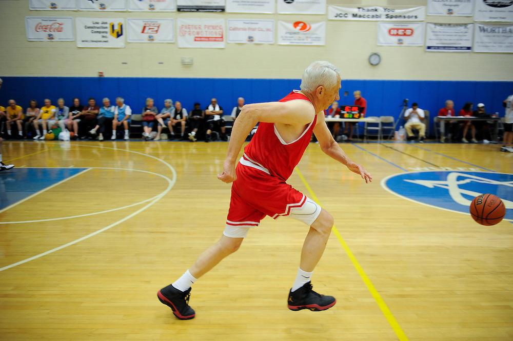 Texas State Senior Games men's 3-on-3 basketball competition Monday, March 26, 2012 in San Antonio. Photo©Bahram Mark Sobhani