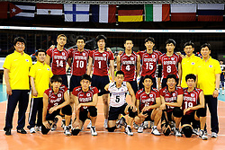 08-07-2010 VOLLEYBAL: WLV NEDERLAND - ZUID KOREA: EINDHOVEN<br /> Nederland verslaat Zuid Korea met 3-0 / Zuid Korea teamfoto<br /> ©2010-WWW.FOTOHOOGENDOORN.NL