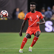 EAST RUTHERFORD, NEW JERSEY - JUNE 17: Christian Ramos #15 of Peru in action during the Colombia Vs Peru Quarterfinal match of the Copa America Centenario USA 2016 Tournament at MetLife Stadium on June 17, 2016 in East Rutherford, New Jersey. (Photo by Tim Clayton/Corbis via Getty Images)