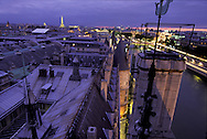 France. Paris. Elevated view  on the Conciergerie and Paris cityscape. paris cityscape , ile de la cite, justice palace,  view from the Conciergerie Bell tower  Paris  France