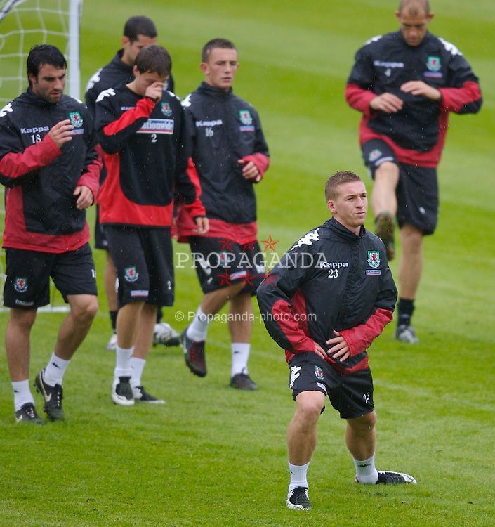 Cardiff, Wales - Monday, August 20, 2007: Wales' Freddy Eastwood training at the Vale of Glamorgan Hotel ahead of their trip to Borgass to play Bulgaria in a friendly match on Wednesday. (Photo by David Rawcliffe/Propaganda)