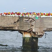 Family and Friends gathered Sunday August 3, 2014 to remember Barbara Pierce at the former quarantine station where she lost her life in a boating accident two years ago. (Jason A. Frizzelle)