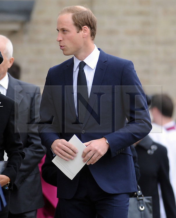 © Licensed to London News Pictures. 11/09/2013 Prince William. The funeral for Hugh Van Cutsem at Brentwood Cathedral in Essex today. The Prince of Wales, The Duke of Cambridge and Prince Harry attended today 11th September 2013