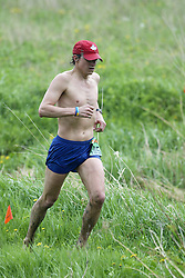 """(Kingston, Ontario---16/05/09) """"Clive Morgan finished 9 in the men's 10-12 km Enduro Race at the 2009 Salomon 5 Peaks Trail Running series Race held in Kingston, Ontario as part of the Eastern Ontario/Quebec division.""""  Copyright photograph Sean Burges/Mundo Sport Images, 2009. www.mundosportimages.com / www.msievents.com."""