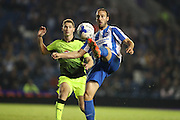 Brighton & Hove Albion centre forward Glenn Murray (17) sets up Brighton & Hove Albion centre forward Tomer Hemed (10) (not pictured) to score during the EFL Cup match between Brighton and Hove Albion and Reading at the American Express Community Stadium, Brighton and Hove, England on 20 September 2016.