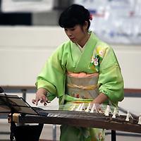 Akiko Suzuki performs a classic Japanese piece on the Koto Saturday at the Tupelo Cherry Blossom Festival