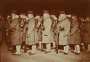 Russo-Japanese War 1904-1905:  Japanese troops at Chemulpo, Korea, waiting to be sent to Seoul. At end of April 1904 the Japanese Imperial Army under Kuroki Itei  reached the Yalu River,  ready to enter Russian-occupied Manchuria.