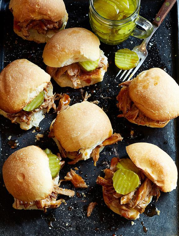Crockpot Pork Barbecue Sliders