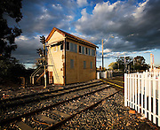 signal box at crossing on Humffray St Nth, Ballarat