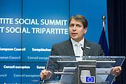 Tripartie Social Summit -- Markus J. Beyrer, Secretary General for Businesseurope. Photo: Erik Luntang