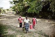 Have med gr&oslash;nsager langs &ldquo;Nyamatendera&rdquo;, Mudzingwa Bakare (62) og hans kone Lizzy (65) har 6 b&oslash;rn. De lever af hvad de kan dyrke i den lille f&aelig;lles have langs den udt&oslash;rrede flod - de vander hver anden dag med vand fra et lille hul i flodsengen. De dyrker k&aring;l, l&oslash;g og tomater. <br /> <br /> Thenjiwe Ncube (55) 5 b&oslash;rn er ogs&aring; en del af haveprojektet og hj&aelig;lper med vandingen.<br /> <br /> Ericah Baisai (chairwoman)
