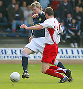 Dundee v Livingston<br /> Scottish League First Division<br /> Dens Park, Dundee<br /> 20/10/2007<br /> Dundee's Kevin McDonald drives past Livingston's Des McCafferty in his side's 4-1 win