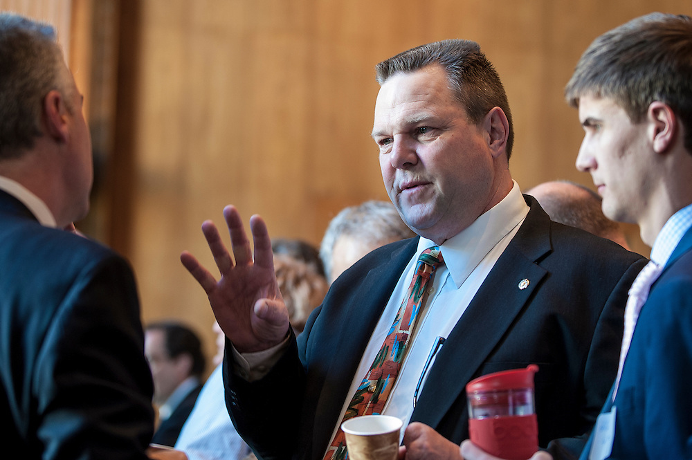 Montana Senator Jon Tester (D)  during a constituant coffee hour on Capitol Hill.