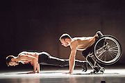 Candoco Dance Company's double bill of Beheld and Set and Reset/ Reset at Sadler's Wells. Beheld is a new commission for the company by choreographer Alexander Whitley. Pictures feature dancers Adam Gain & Joel Brown.