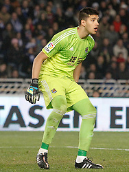 04.01.2015, Anoeta Stadium, San Sebastian, ESP, Primera Division, Real Sociedad vs FC Barcelona, 17. Runde, im Bild Real Sociedad's Geronimo Rulli // during the Spanish Primera Division 17th round match between Real Sociedad and Barcelona FC at the Anoeta Stadium in San Sebastian, Spain on 2015/01/04. EXPA Pictures © 2015, PhotoCredit: EXPA/ Alterphotos/ Acero<br /> <br /> *****ATTENTION - OUT of ESP, SUI*****