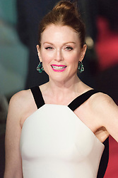 © Licensed to London News Pictures. 14/02/2016. London, UK.  JULIANNE MOORE arrives on the red carpet at the EE British Academy Film Awards 2016 Photo credit: Ray Tang/LNP