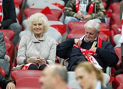 14.10.2014, Nationalstadium, Warsaw, POL, UEFA Euro Qualifikation, Polen vs Schottland, Gruppe D, im Bild KRZYSTYNA LOSKA HENRYK LOSKA // during the UEFA EURO 2016 Qualifier group D match between Poland and Scotland at the Nationalstadium in Warsaw, Poland on 2014/10/14. EXPA Pictures © 2014, PhotoCredit: EXPA/ Newspix/ Michal Chwieduk<br /> <br /> *****ATTENTION - for AUT, SLO, CRO, SRB, BIH, MAZ, TUR, SUI, SWE only*****