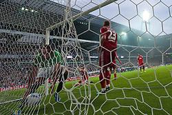 10.09.2011, Weser Stadion, Bremen, GER, 1.FBL, Werder Bremen vs Hamburger SV, im Bild.Claudio Pizarro (Bremen #24) holt den Ball aus dem Tor nach dem 1:0 remiote.// during the Match GER, 1.FBL, Werder Bremen vs Hamburger SV on 2011/09/10,  Weser Stadion, Bremen, Germany..EXPA Pictures © 2011, PhotoCredit: EXPA/ nph/  Kokenge       ****** out of GER / CRO  / BEL ******