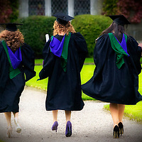 September Graduations in the rain at University College Cork, Ireland. Photograph by Tomas Tyner,UCC.