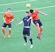 Dundee's Ben Priest and Dundee United's Aaron Duke in aerial action - Dundee v Dundee United under 20s<br /> <br />  - &copy; David Young - www.davidyoungphoto.co.uk - email: davidyoungphoto@gmail.com