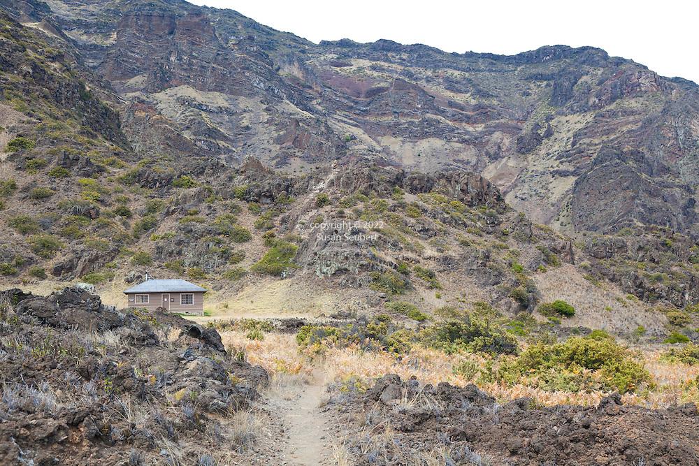 The Holua Cabin in Haleakala National Park on the island of Maui, Hawaii, USA