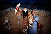 Sado island, August 18 2010 - Yohachiro Honda's Bunya puppets collection.