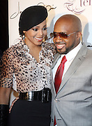 l to r: Janet Jackson and Jermaine Dupri at The Jermaine Dupri Birthday Celebrration held at Tenjune in New York City on September 23, 2008