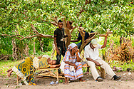 Patients rest as they wait for treatment on the first day of the LCMS Mercy Medical Team on Monday, May 7, 2018, in the Yardu village outside Koidu, Sierra Leone, West Africa. LCMS Communications/Erik M. Lunsford
