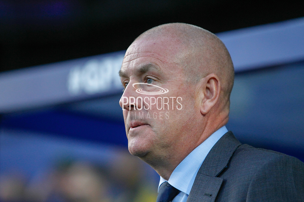 Queens Park Rangers manager Mark Warburton during the EFL Sky Bet Championship match between Queens Park Rangers and Swansea City at the Kiyan Prince Foundation Stadium, London, England on 21 August 2019.