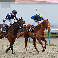 Secret Of Success and Chris Catlin winning the 4.15 race