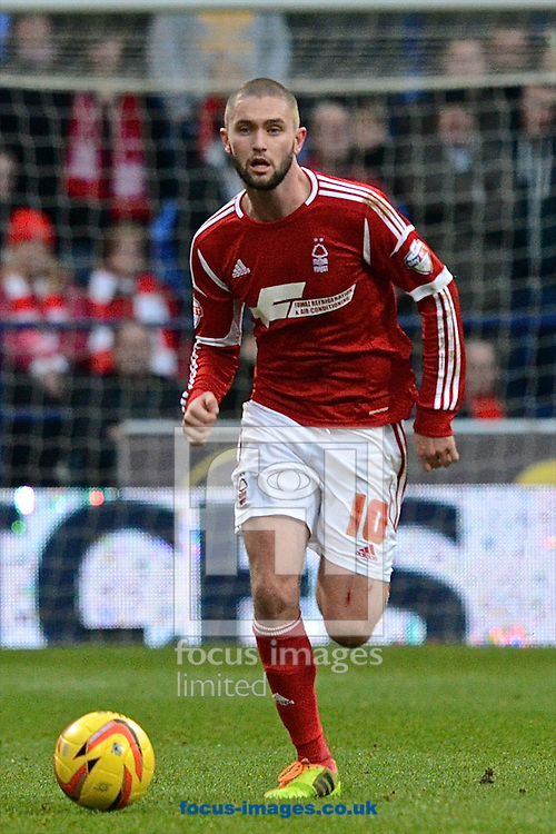 Picture by Ian Wadkins/Focus Images Ltd +44 7877 568959<br /> 11/01/2014<br /> Henri Lansbury of Nottingham Forest during the Sky Bet Championship match at the Reebok Stadium, Bolton.