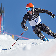 Bryan Shpall, USA, in action during the Men's Giant Slalom competition at Coronet Peak, New Zealand during the Winter Games. Queenstown, New Zealand, 22nd August 2011. Photo Tim Clayton