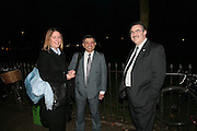 Justine Egan, Aspi Irani and Chris Edwards. Maricopa Partnership for Arts and Culture,  Arizona Office of Tourism, and Arizona Department of Commerce<br /> In association with the Architecture Foundation and Blueprint magazine host Phoenix: 21st Century City , Serpentine Gallery, London. 12 March 2007.  -DO NOT ARCHIVE-© Copyright Photograph by Dafydd Jones. 248 Clapham Rd. London SW9 0PZ. Tel 0207 820 0771. www.dafjones.com.