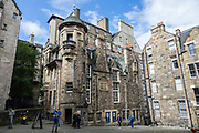 The Writers' Museum is housed in Lady Stair's House built in 1622 at the Lawnmarket, on the Royal Mile in Edinburgh. It presents the lives of three of the foremost Scottish writers: Robert Burns, Sir Walter Scott and Robert Louis Stevenson. Run by the City of Edinburgh Council, the collection includes portraits, works and personal objects. Edinburgh is the capital city of Scotland, located in Lothian on the Firth of Forth, United Kingdom, Europe.