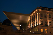 exterior of the Albertina Museum, Vienna, Austria at night