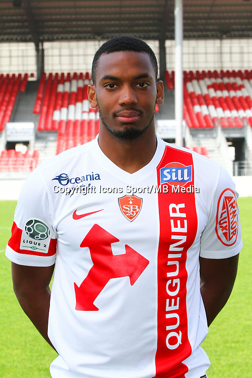 Johan MARTIAL - 08.09.2014 - Photo officielle Brest - Ligue 2 2014/2015<br /> Photo : Maxime Kerriou / Icon Sport