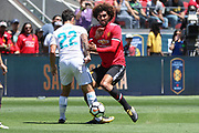 Real Madrid Midfielder Isco tackles Manchester United Midfielder Marouane Fellaini during the AON Tour 2017 match between Real Madrid and Manchester United at the Levi's Stadium, Santa Clara, USA on 23 July 2017.