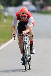 26.06.2015, Einhausen, GER, Deutsche Strassen Meisterschaften, im Bild Christopher Muche (Veloclub Ratisbona Regensburg) // during the German Road Championships at Einhausen, Germany on 2015/06/26. EXPA Pictures © 2015, PhotoCredit: EXPA/ Eibner-Pressefoto/ Bermel<br /> <br /> *****ATTENTION - OUT of GER*****