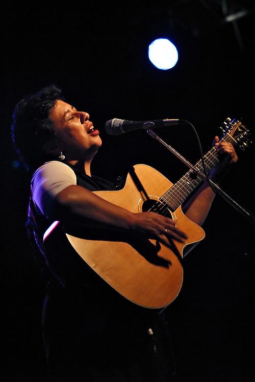 Mahinarangi Tocker performs at WOMAD Taranaki in New Plymouth, on Friday 14 March 2003.