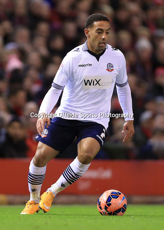 24th January 2015 - FA Cup - 4th Round - Liverpool v Bolton Wanderers - Liam Feeney of Bolton - Photo: Simon Stacpoole / Offside.