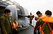 "The Italian aircraft carrier  ""G. Garibaldi"" ..cleaning of the weapons"