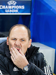 Ante Simundza, head coach of Maribor during football match between Chelsea FC and NK Maribor, SLO in Group G of Group Stage of UEFA Champions League 2014/15, on October 21, 2014 in Stamford Bridge Stadium, London, Great Britain. Photo by Vid Ponikvar / Sportida.com