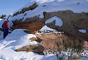 Visitors, Park Visitors, Mesa Arch, Snow, Winter, Canyonlands, Canyonlands National Park, Utah